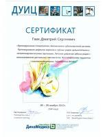 Сертификат ДУИЦ Гаек Дмитрий Сергеевич
